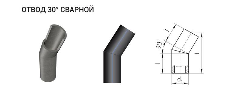 otvod-30deg-gradusov-polietilenovyy-pe-100-80-dlya-naruzhnogo-vodoprovoda